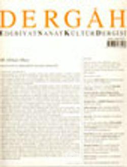 Dergah Edebiyat Sanat Kültür Dergisi / Mayıs 2003 - Sayı 159